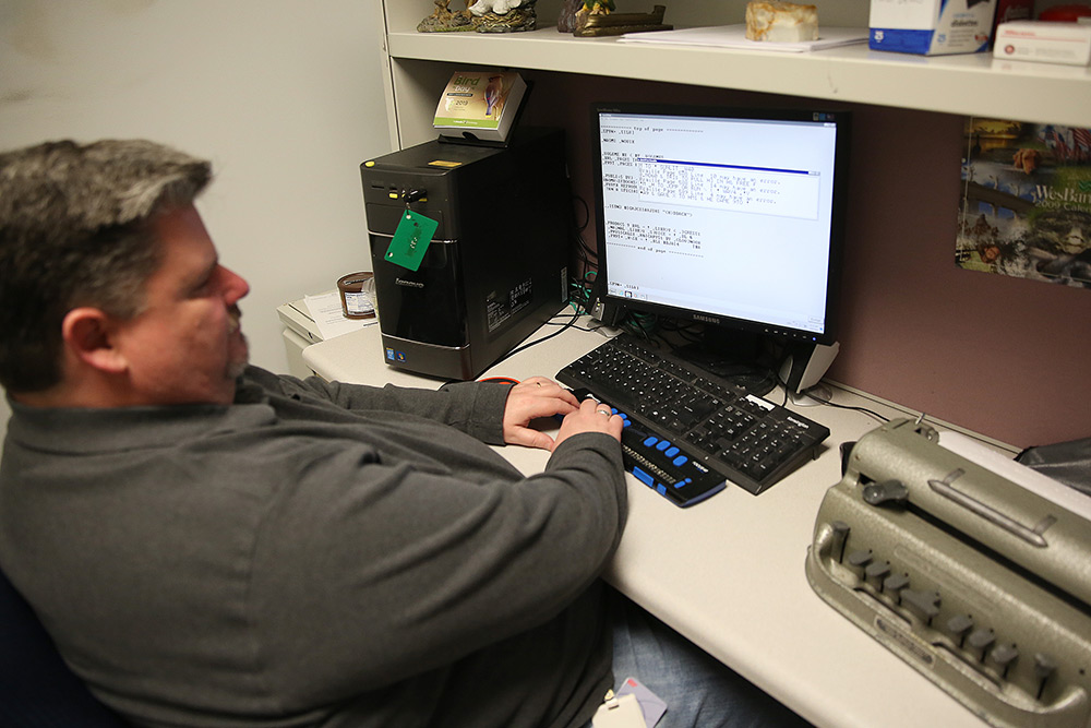 Clovernook Center employee performs transcription services