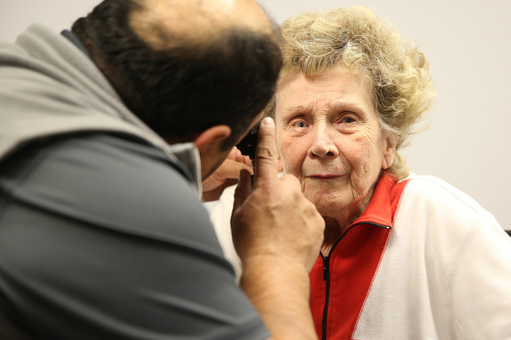Older woman participating in the Adult vision clinic