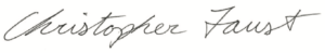 Signature of Chris Faust
