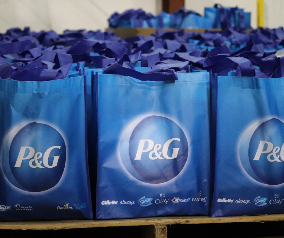 Image of dozens of P&G packages